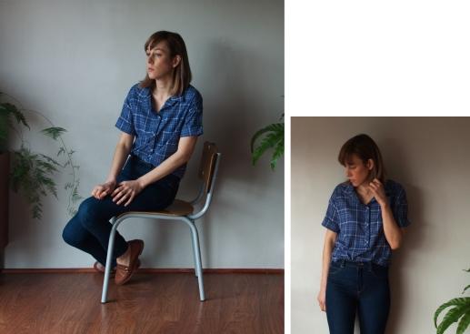 blue checked shirt 2