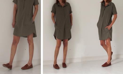 Khaki dress2